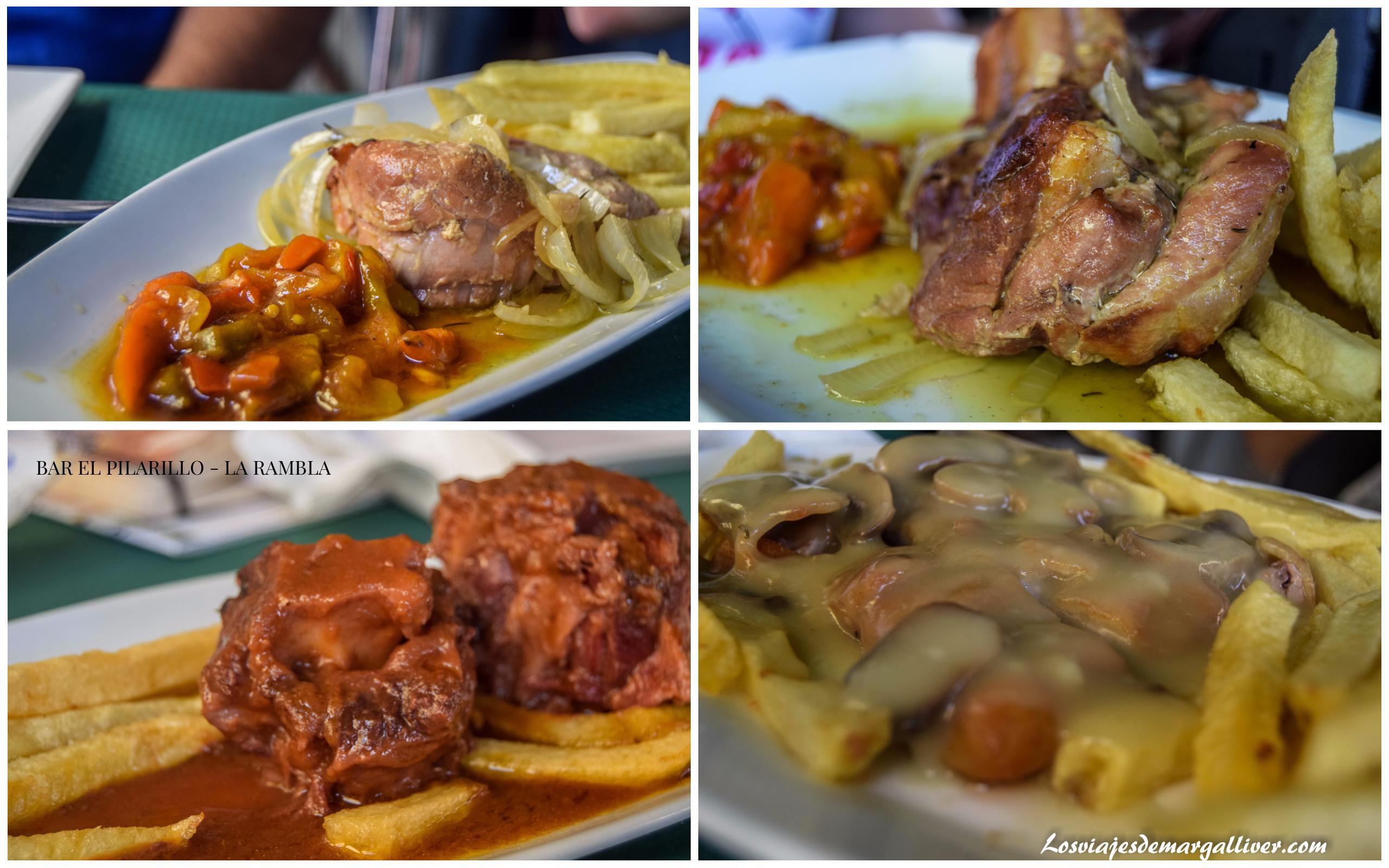 Platos degustados en el Bar el Pilarillo en la Rambla , Córdoba - Los viajes de Margalliver